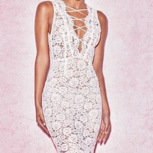 House of CB white lace dress